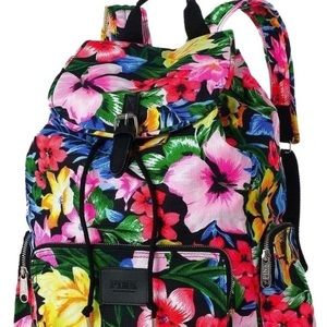 Victoria's Secret Pink Floral Tropical Backpack